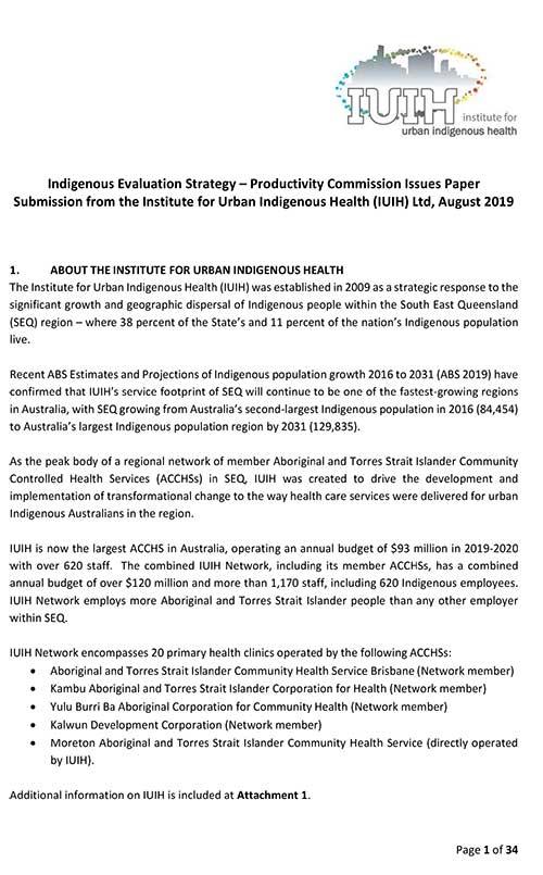 IUIH Submission   Indigenous Evaluation Strategy