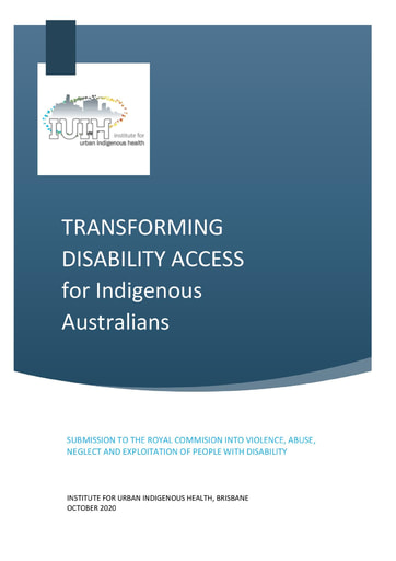 IUIH Submission Disability Royal Commission